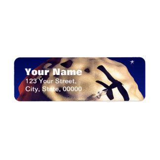 Moon and Plane Customizable Return Address Labels