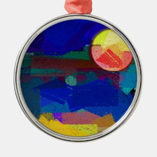 Moon And Sanity Christmas Ornament
