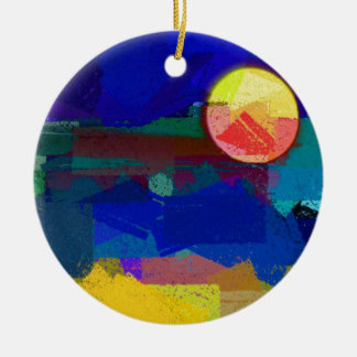 Moon And Sanity Christmas Tree Ornament