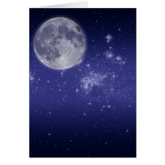 Moon and Shining Stars Cards