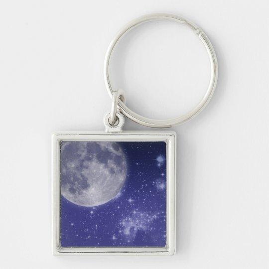 Moon and Shining Stars Keychain