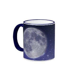 Moon and Shining Stars Ringer Mug