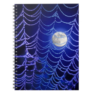 Moon and Spider Web Spiral Note Books