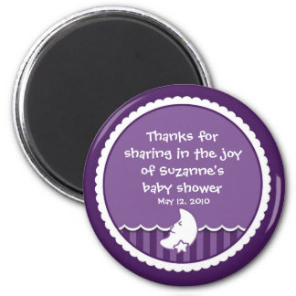 Moon and Star (dark purple) Magnet
