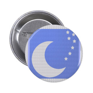 MOON and STAR Pattern ART CRYSTAL Stone base fun Pinback Buttons