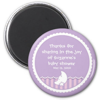 Moon and Star (pink and light purple) Fridge Magnets
