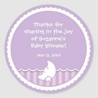 Moon and Star Sticker for Baby Shower favor