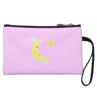Moon and Star Wristlet Wallet