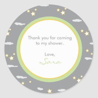 Moon and Stars Address Label/Favor Sticker