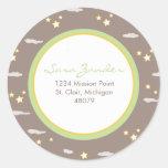Moon and Stars Address Label/Favor Sticker