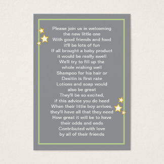 Moon and Stars Baby Product Card
