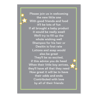 Moon and Stars Baby Product Card Business Card Templates