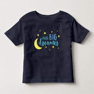 Moon and Stars Blue Little Big Dreamer Toddler T-shirt