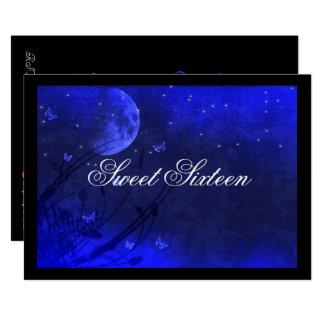 Moon and Stars, Blue Sweet Sixteen Invitations