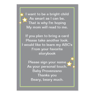 Moon and Stars Bring a Book Card Large Business Card