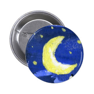 Moon and Stars Pinback Buttons