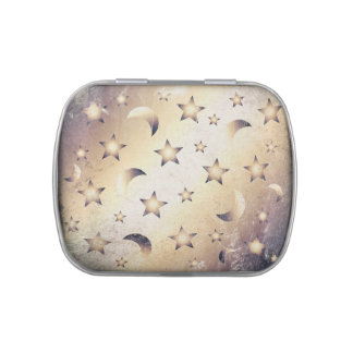 Moon and Stars Candy Tins
