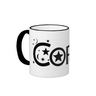 Moon and Stars Coffee Mug by Pisces Moon