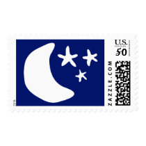 Moon and stars custom postage stamps
