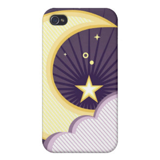 Moon and Stars Design iPhone 4 Covers