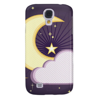 Moon and Stars Design Samsung Galaxy S4 Cover