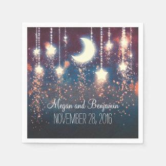 moon and stars enchanted romantic napkin