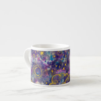"""Moon and Stars"" Espresso Mug (Gold-Etc)"