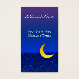 Moon and Stars Event Ticket Business Card