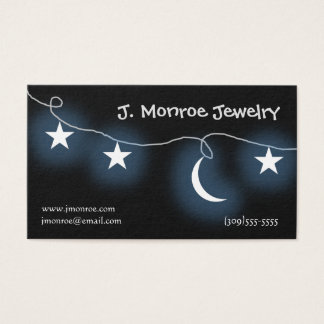 Moon and Stars Jewelry Designer Business Card