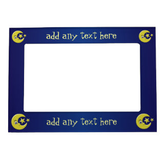 Moon And Stars Just Add Text Magnetic Photo Frame
