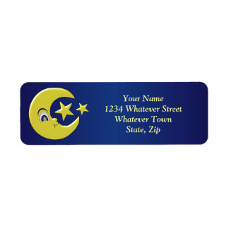 Moon And Stars Custom Return Address Labels
