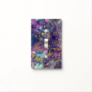 """""""Moon and Stars"""" Light Switch SingleT (Gold-Etc)"""