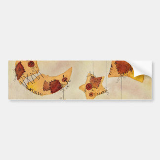 Moon and Stars on String, Mobile, Watercolor Bumper Sticker