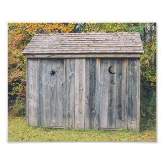 Moon and Stars Outhouse Photo Print