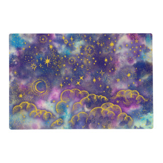 """""""Moon and Stars"""" Placemat (Gold-Etc)"""