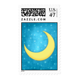 Moon and Stars Postage