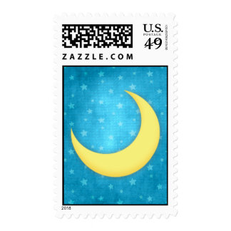 Moon and Stars Postage Stamp