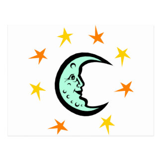 Moon and Stars Postcard