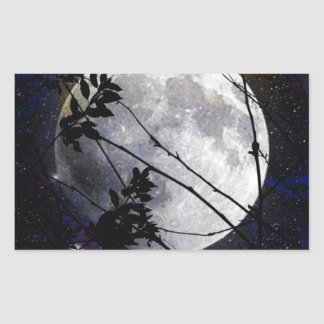 Moon and Stars Rectangular Sticker