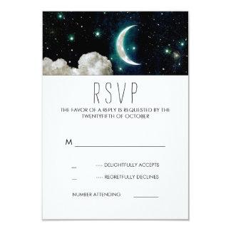 Moon and Stars Romantic Wedding RSVP Card