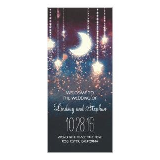 moon and stars rustic wedding program