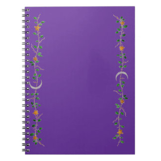 Moon and Stars Spiral Note Book