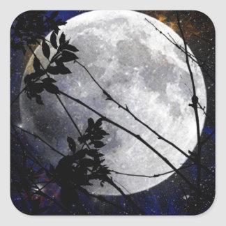 Moon and Stars Square Sticker