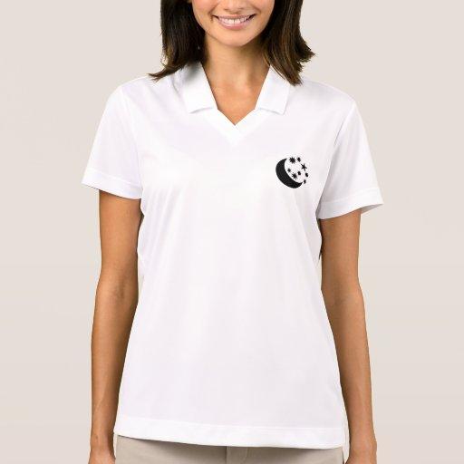 Moon and stars polo t-shirts