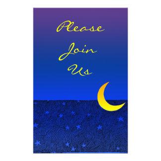 Moon and Stars Vintage Art Custom Flyer