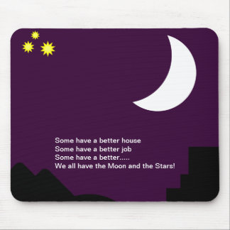 Moon and stars with poem mousepad