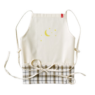 Moon and Stars Zazzle HEART Apron