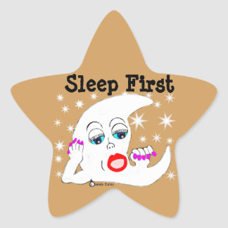 Moon and The Stars...and Sleep is What We Need Star Sticker
