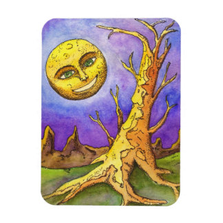 Moon and Tree Magnet