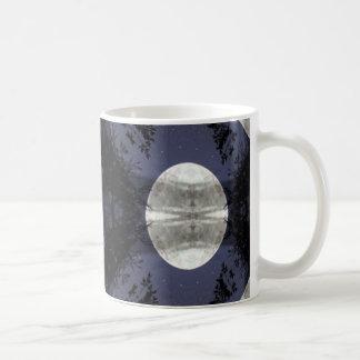 Moon and Trees Coffee Mugs